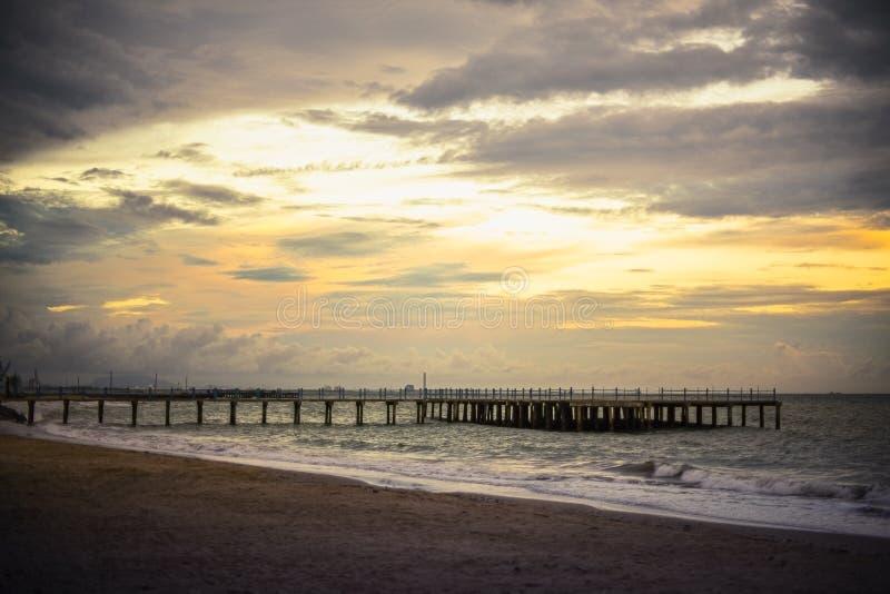 Avond op het strand stock foto
