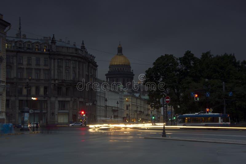 Avond St Petersburg stock foto