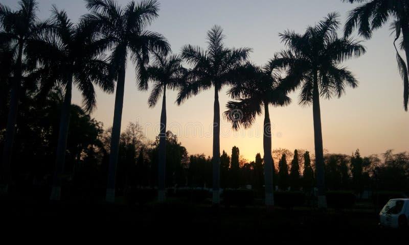 Avond van de #beautiful dag van India stock afbeelding
