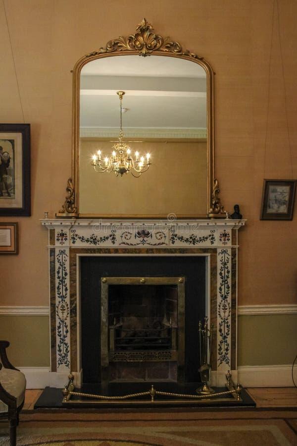 Avondale hus Avondale Wicklow ireland royaltyfria foton