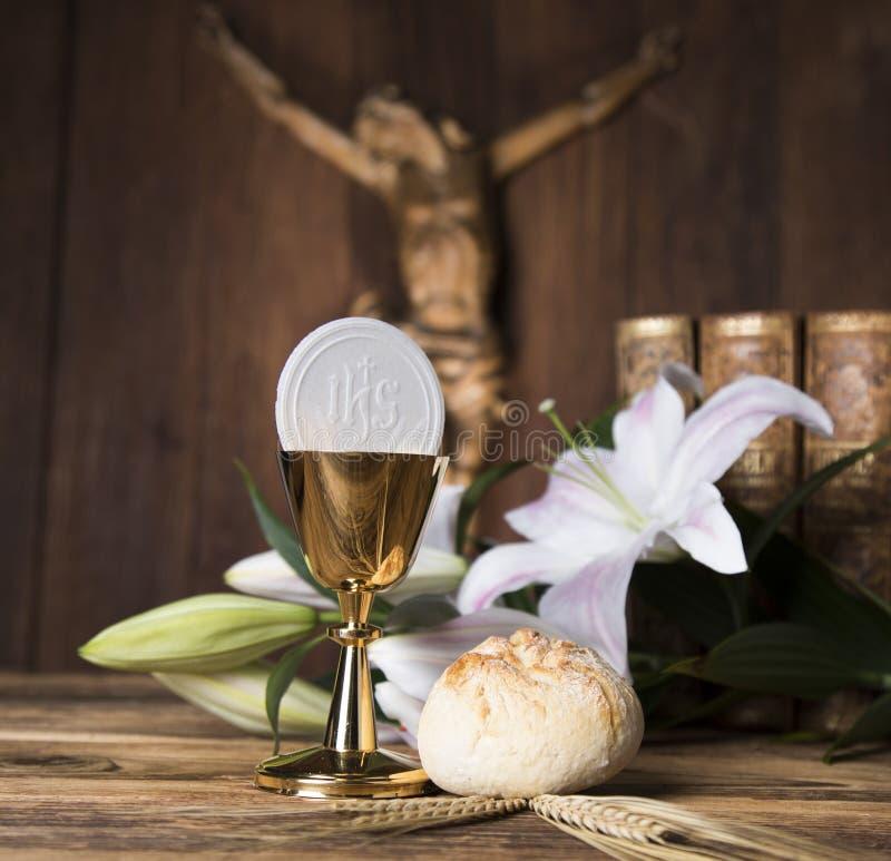 Avondmaal, sacrament van kerkgemeenschap royalty-vrije stock afbeeldingen