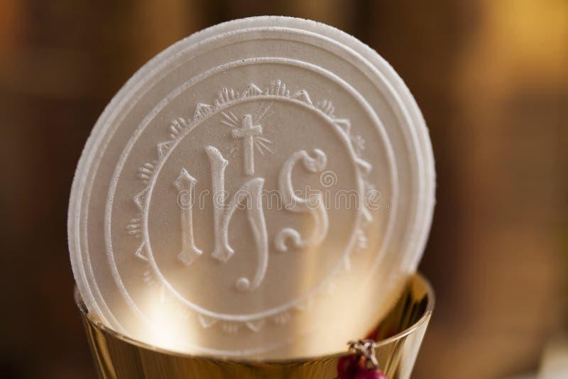 Avondmaal, sacrament van kerkgemeenschapachtergrond royalty-vrije stock afbeelding