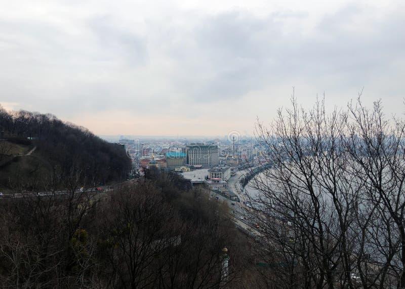 Avondstad van Kiev royalty-vrije stock fotografie