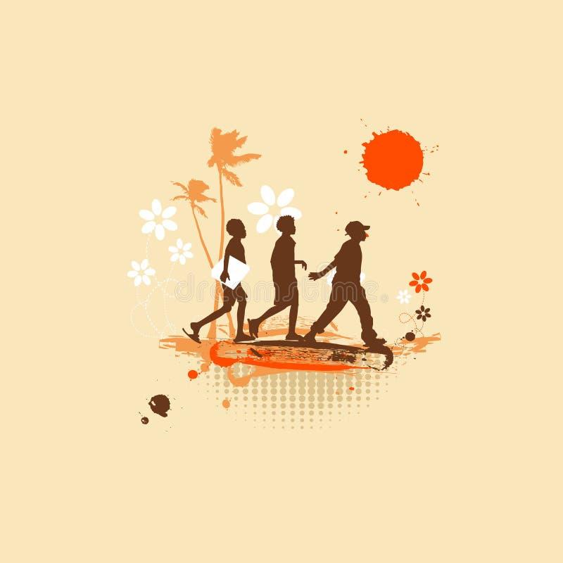 Avonturen, de zomervakantie vector illustratie
