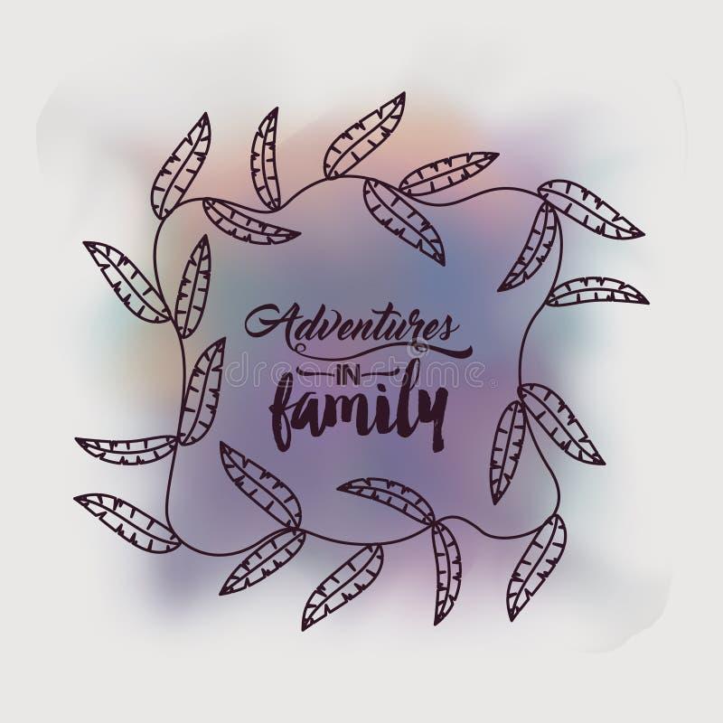 Avonturen in familieontwerp royalty-vrije illustratie