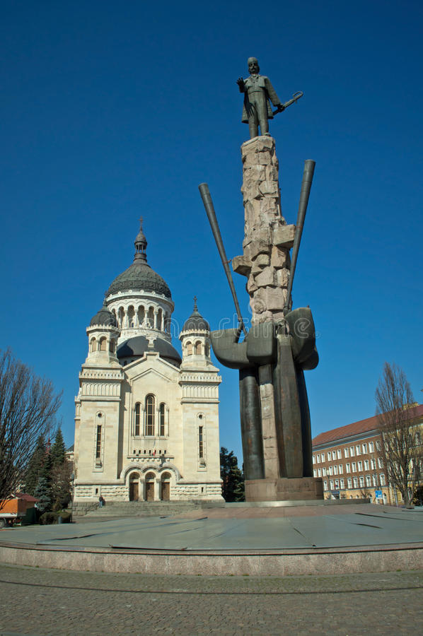 Download Avram Iancu Monument And Orthodox Cathedral, Cluj Stock Photo - Image: 38736188