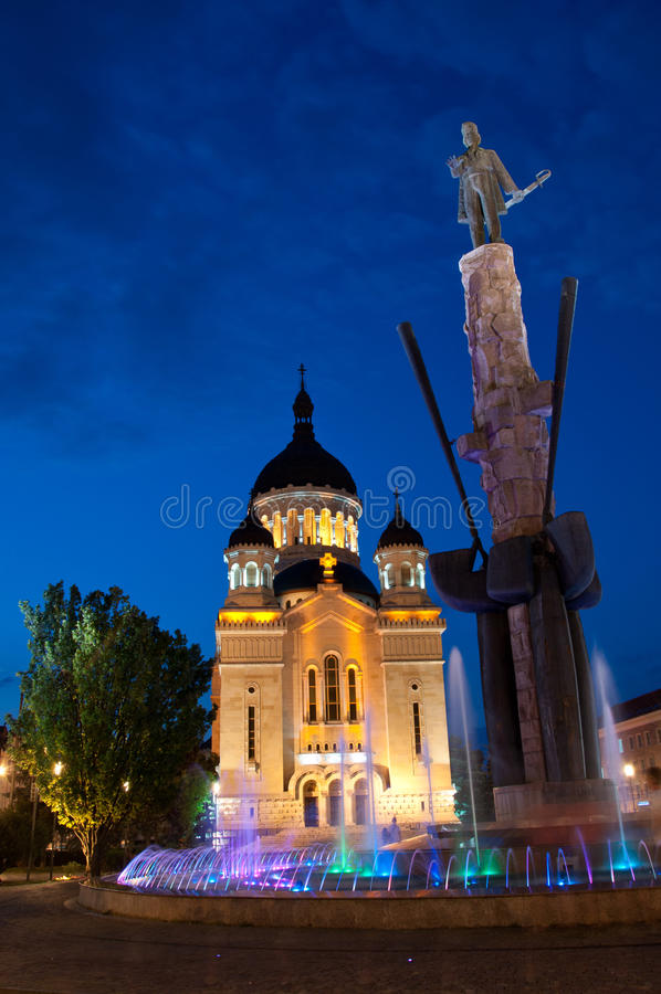 Download Avram Iancu Monument And Orthodox Cathedral, Cluj- Stock Image - Image of monument, cluj: 33824657