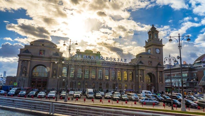 10 avril 2015 Bâtiment principal de Kievsky célèbre image libre de droits