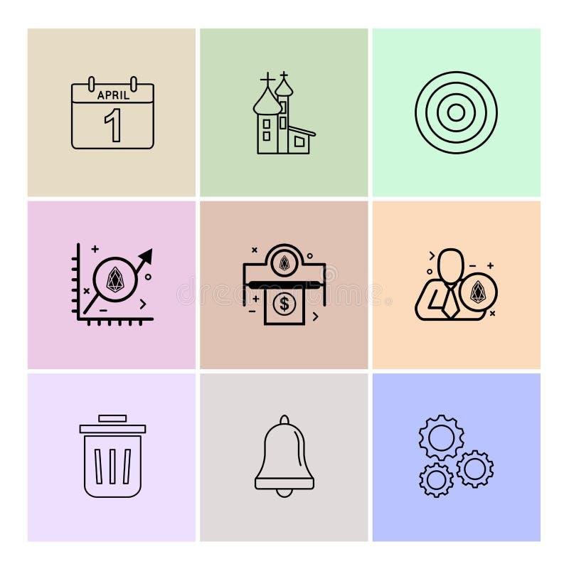 Avril, calendrier, dard, cible, vitesse, arrangement, cloche, Bi de la poussière illustration de vecteur