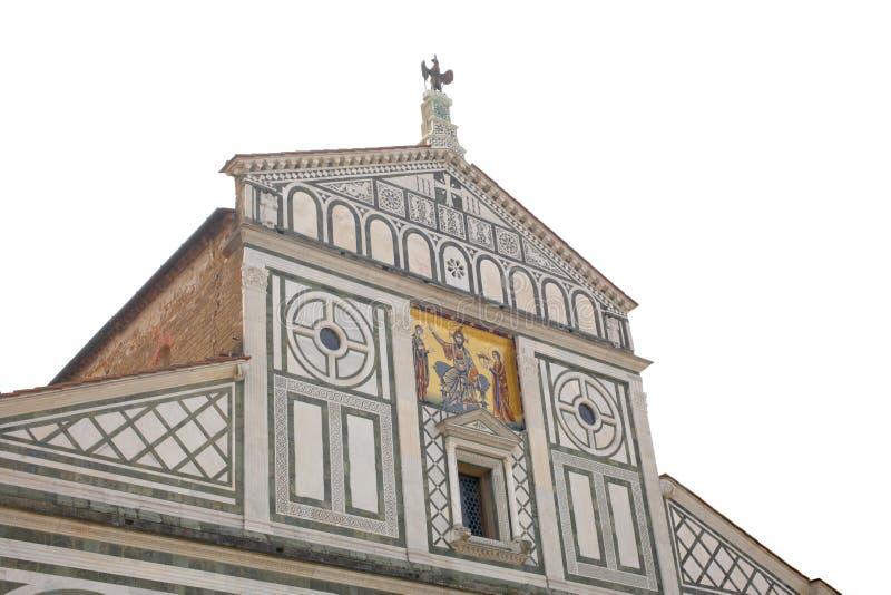 22 avril 2019, Florence, Italie : église de San Miniato, détail sur la façade avec l'espace de copie pour votre texte photo stock