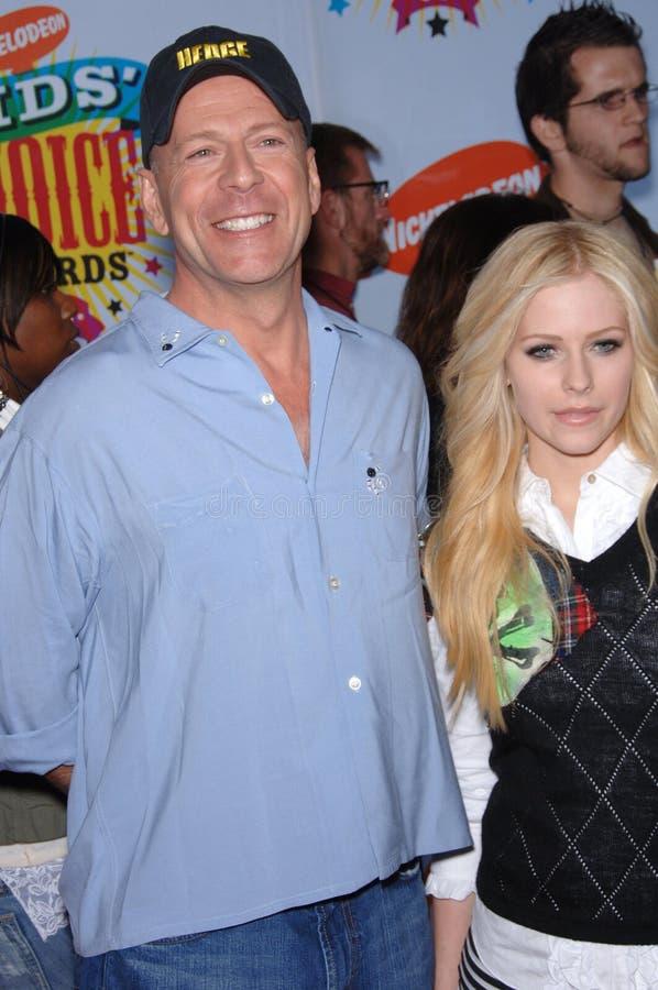 Avril Lavigne, Bruce Willis stockfoto