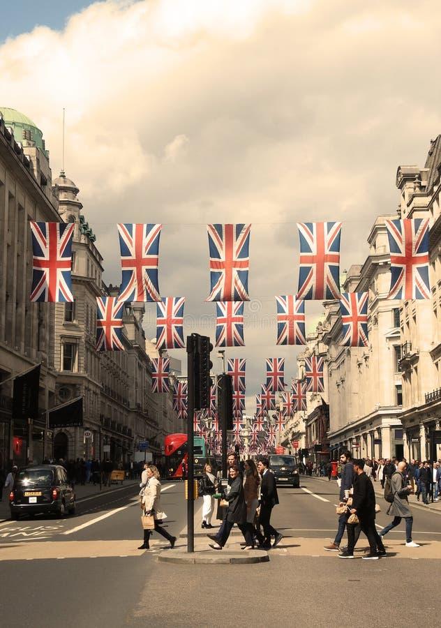 Avril 2018 Regent Street, Londres R-U images libres de droits