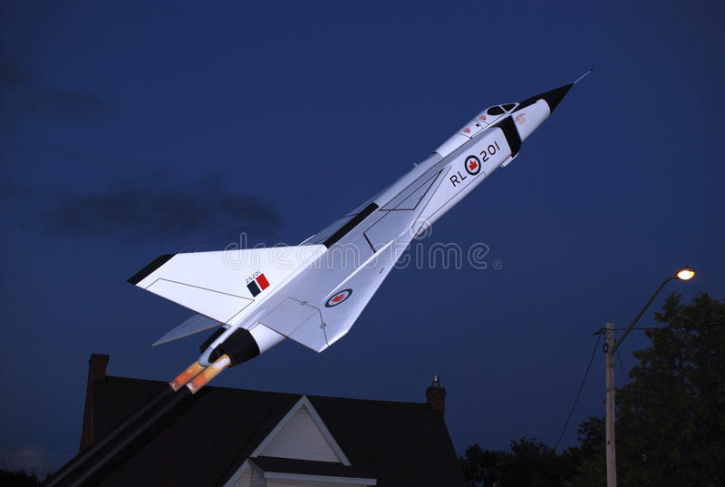 Avro Arrow Monument royalty free stock photo