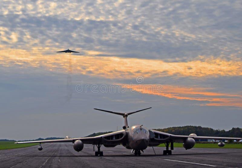 Avro Vulcan och HP segrare royaltyfria bilder