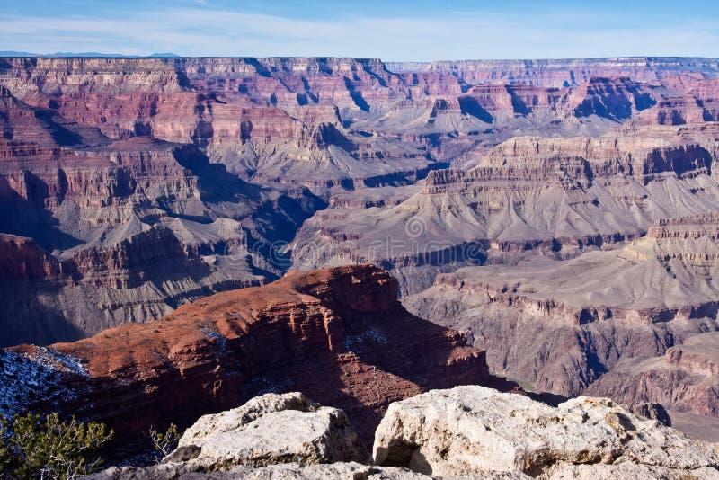 Avsats över grandet Canyon arkivbilder