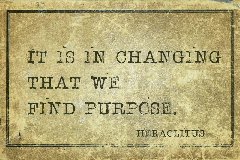 Avsiktändring Heraclitus arkivbild