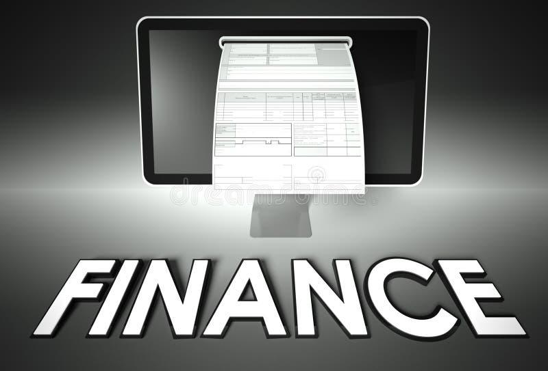 Avskärma och fakturera med finans, skatt royaltyfria foton