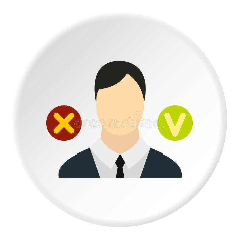 Avskedande av anställdsymbolen, lägenhetstil royaltyfri illustrationer