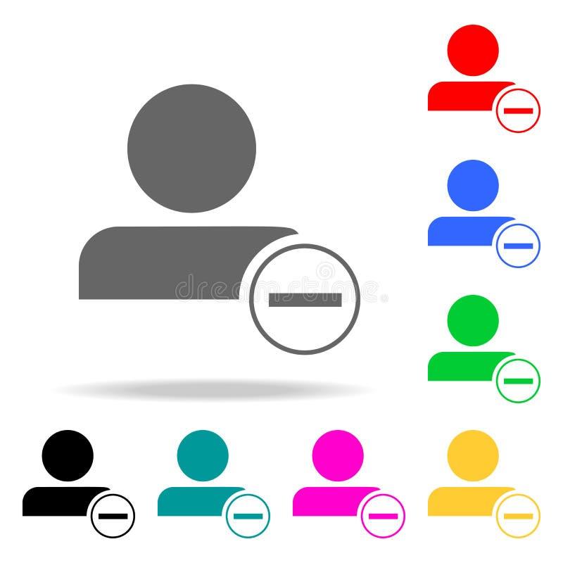 avskedande av en anställdsymbol Beståndsdelar av mång- kulöra symboler för teamwork Högvärdig kvalitets- symbol för grafisk desig royaltyfri illustrationer