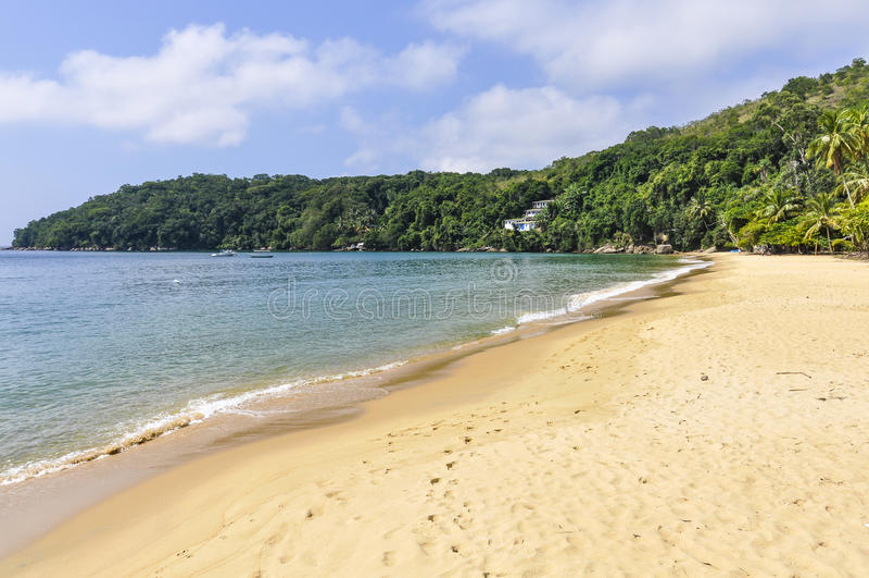 Avskild strand i Ilha den stora ön, Brasilien arkivbild
