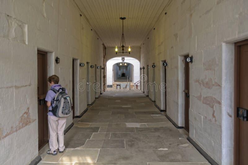 Avskilj fängelsePort Arthur royaltyfri bild