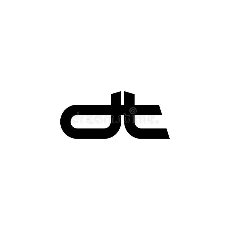 Avskiljare för den initiala bokstaven i form av exponeringsglas märker logosvart royaltyfri illustrationer