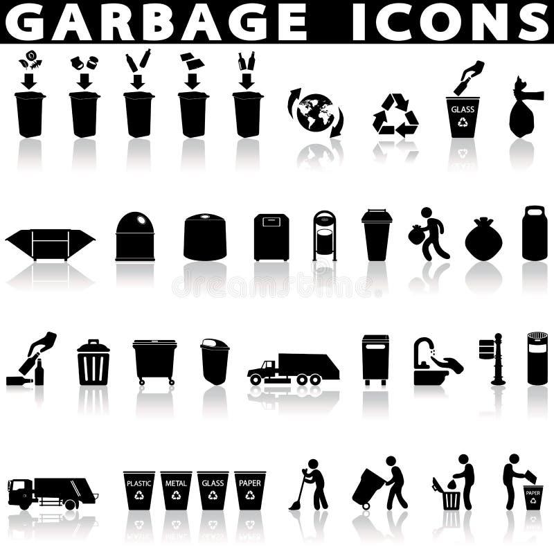 Avskräde och återvinning royaltyfri illustrationer