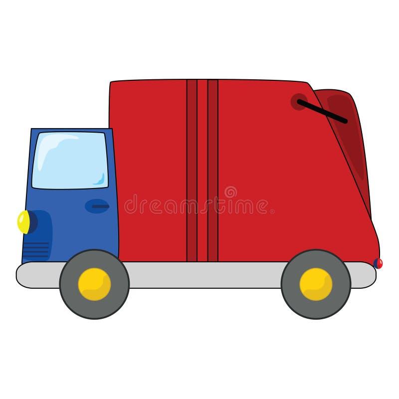 avskrädelastbil stock illustrationer