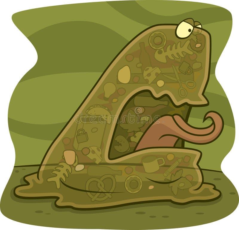 avskrädemonster royaltyfri illustrationer