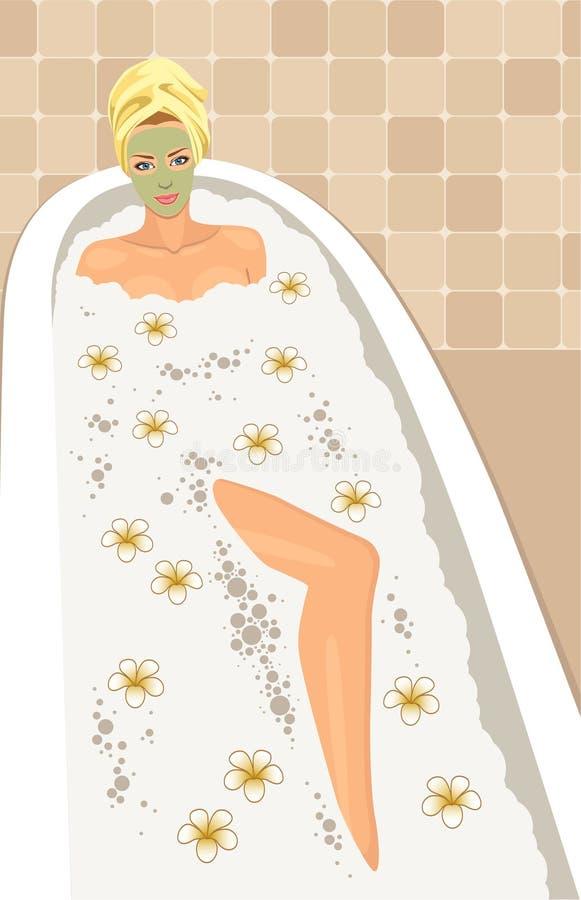 avslappnande brunnsort stock illustrationer