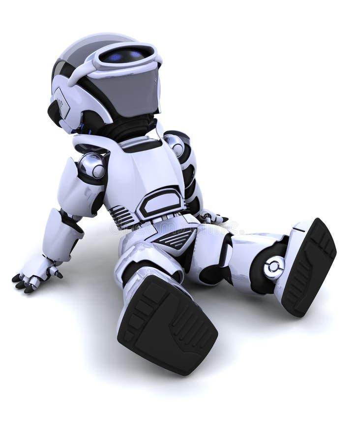 avslappnande robot stock illustrationer