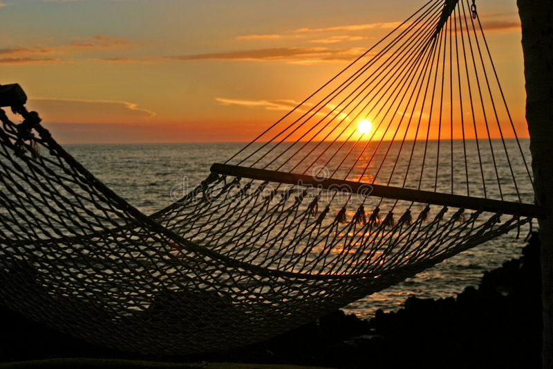 avslappnande solnedgång