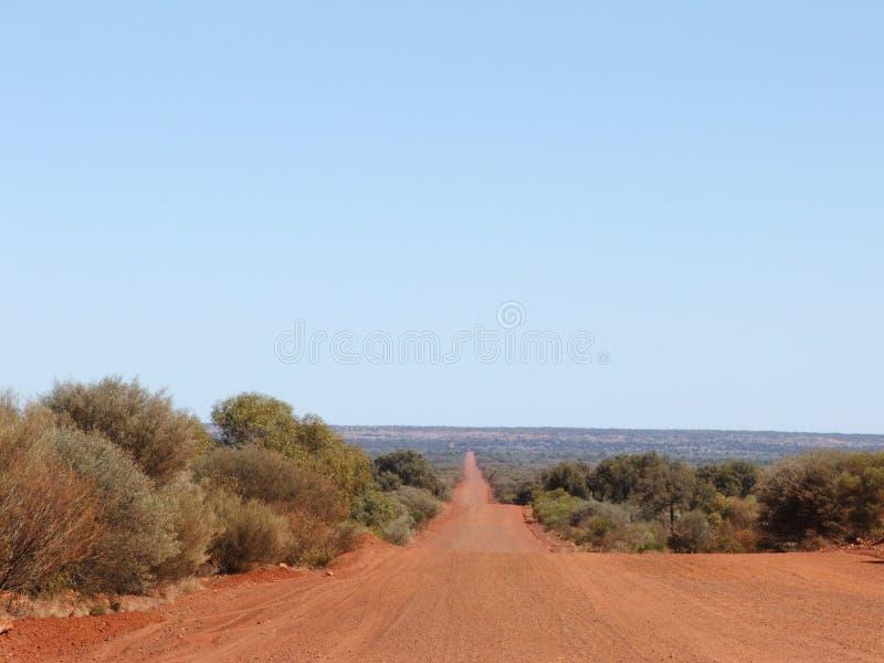 Download Avsluta aldrig vägen arkivfoto. Bild av australasian, öken - 989186