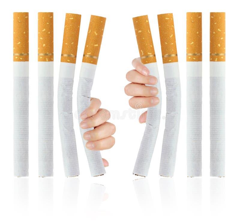 Avslutad rökning arkivbild