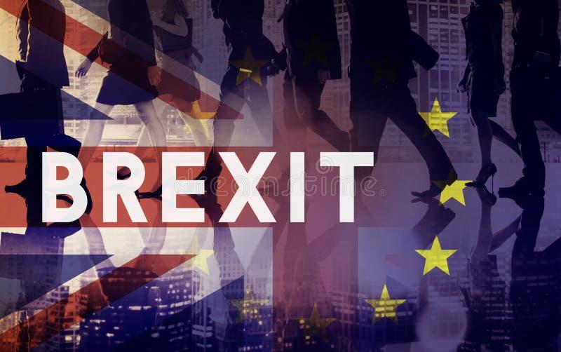 Avslutade europeisk union för Brexit Britannien tjänstledigheter folkomröstningbegrepp royaltyfri fotografi