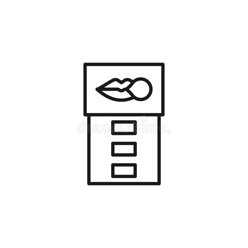 Avslutat r?ka, nikotingummisymbol Best?ndsdel av avslutat r?ka symbolen Tunn linje symbol f?r websitedesignen och utveckling, app royaltyfri illustrationer