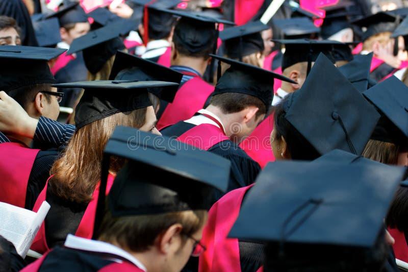 avslutningdagen avlägger examen Harvarduniversitetet arkivbild