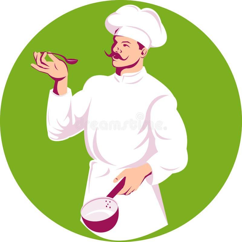 avsmakning för kockkockmaträtt vektor illustrationer