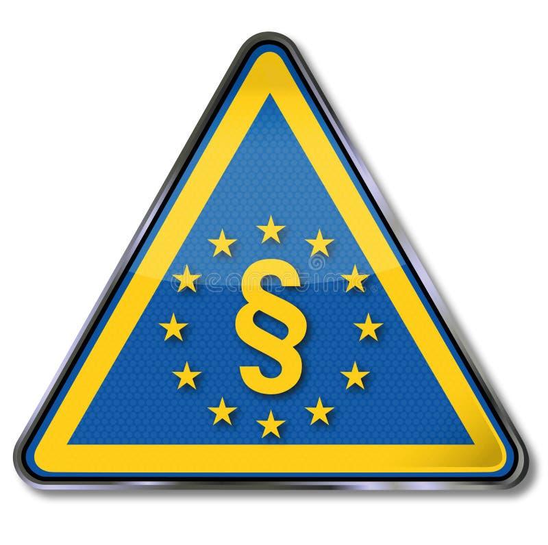 Avsnitt och med europeisk lag vektor illustrationer