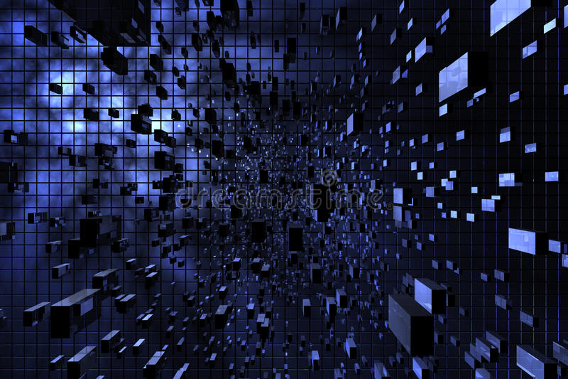 avstånd för blue 3d arkivbilder