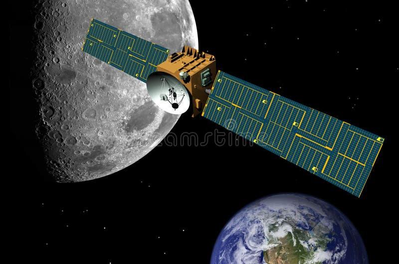 avstånd för kommunikationskommunikationssatellit stock illustrationer