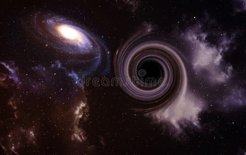 avstånd för svart hål royaltyfria foton