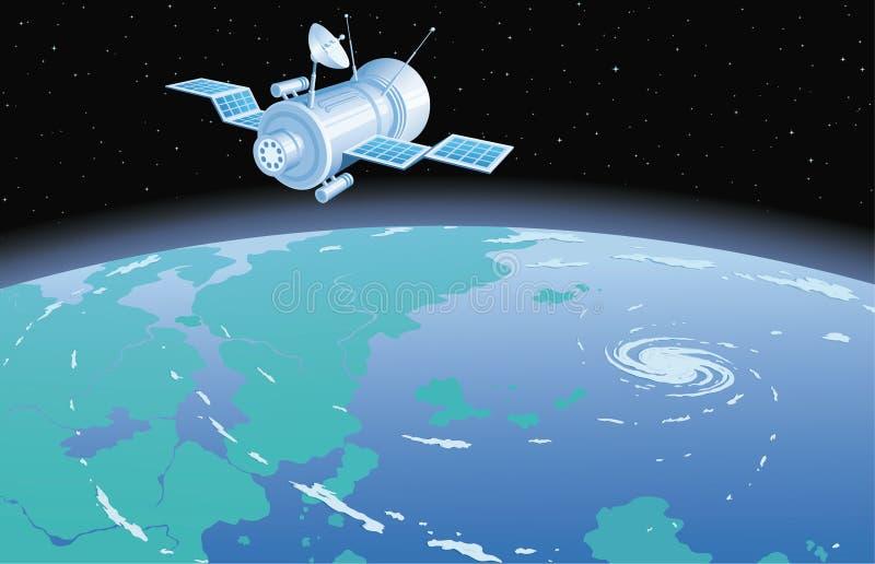 Avståndssatellit vektor illustrationer