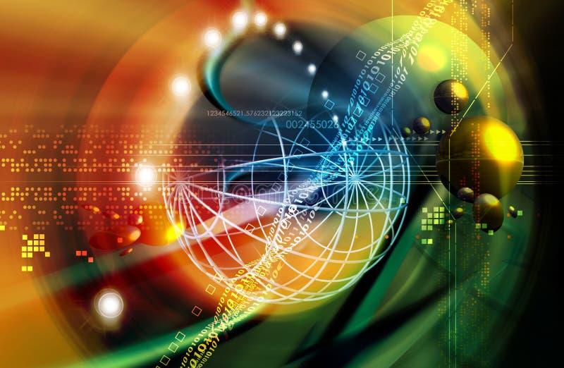 avståndsteknologi royaltyfri illustrationer
