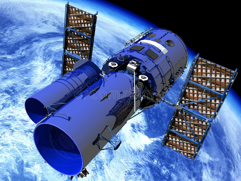 avståndsteleskop stock illustrationer