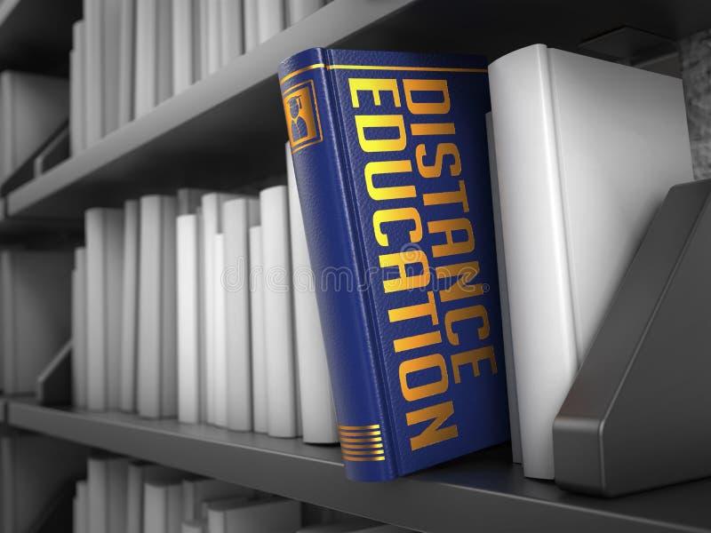 Avståndsutbildning - titel av boken Internet vektor illustrationer