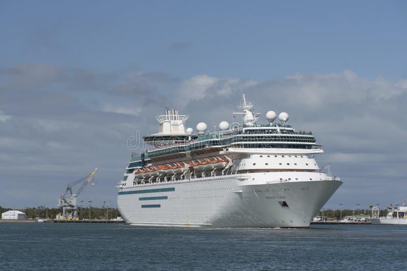 Avtågande port Canaveral Florida USA för kryssningskepp royaltyfri bild