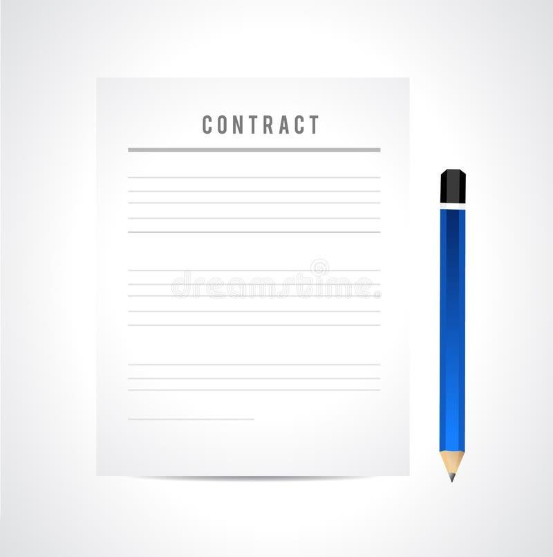 avtalsskrivbordsarbete stock illustrationer