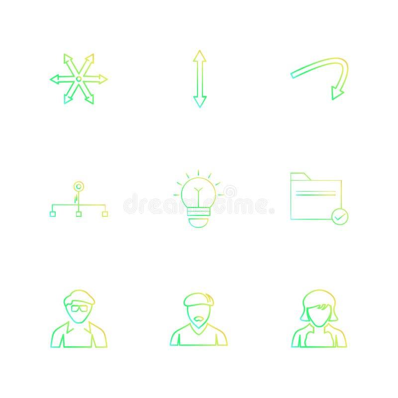 avtar,电灯泡,文件夹,箭头,方向,具体化,下载, 皇族释放例证