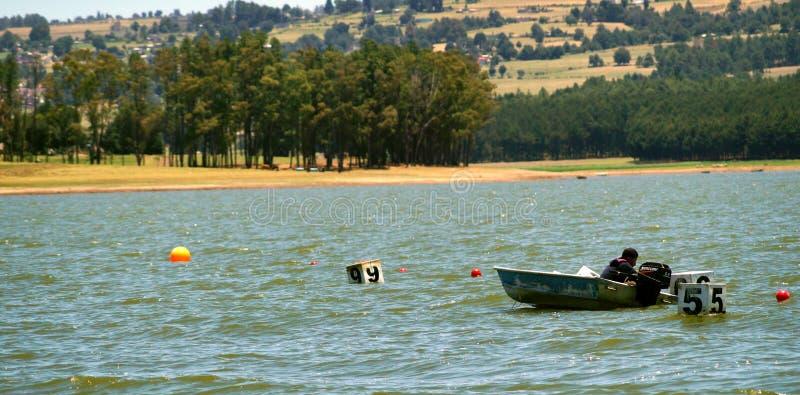Avvenimento sportivo in un lago messicano fotografie stock